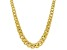 10K Yellow Gold Graduated Curb Necklace 18