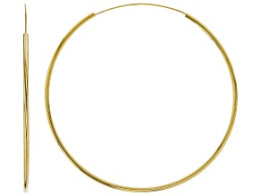 10K Yellow Gold 70MM Polished Endless Hoop Earrings
