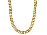 10K Yellow Gold Domed High Polished 18 Inch Byzantine Necklace