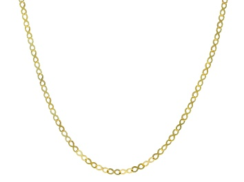 Picture of 10k Yellow Gold 3.2mm Infinity Link Necklace 20 Inches