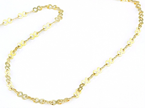 10k Yellow Gold 3.2mm Infinity Link Necklace 20 Inches