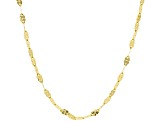 10k Yellow Gold Clover Necklace 24 inch
