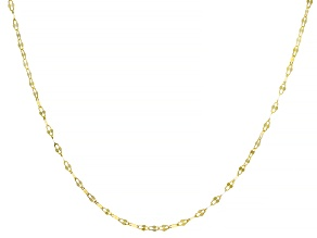 10k Yellow Gold 1.5mm Designer Lumina Link Necklace 24 Inches