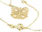 10K YELLOW GOLD 1MM CLOVER NECKLACE