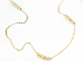 10k Yellow Gold Bead Station 24 Inch Necklace