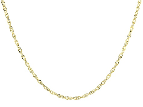 10k Yellow Gold Singapore Necklace 18 inch