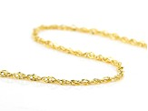 10k Yellow Gold Singapore Necklace 20 inch