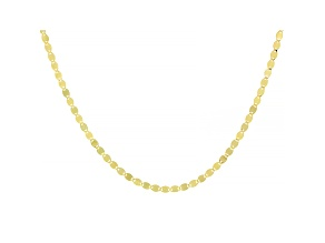 10k Yellow Gold Designer Chain 20 Inch Necklace