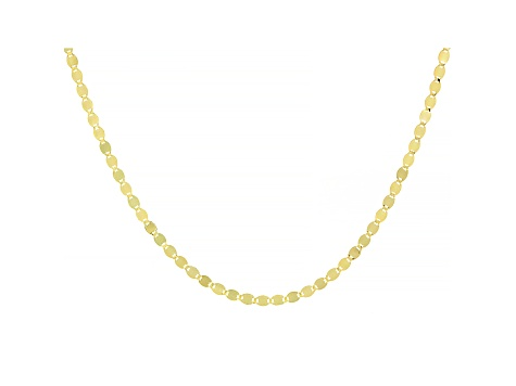 10k Yellow Gold Designer Chain Necklace 20 inch