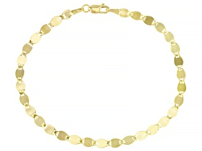 10k Yellow Gold Designer Chain Bracelet