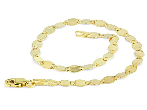 10k Yellow Gold 3.3MM Designer Link Bracelet
