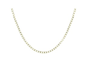 10K Yellow Gold Diamond Cut Curb Necklace