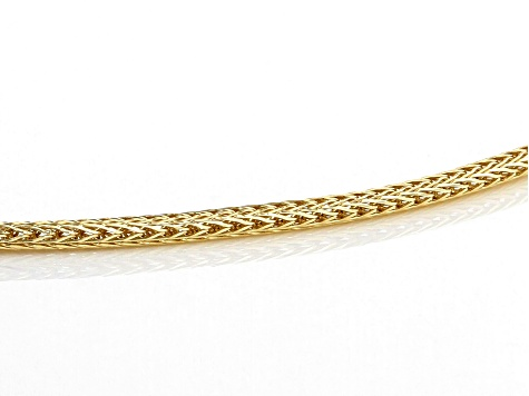 10K Yellow Gold Foxtail Chain Necklace 18 inch