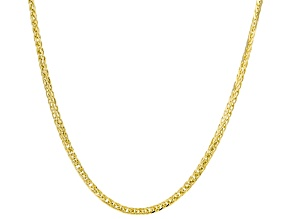 10k Yellow Gold Diamond-Cut Wheat Necklace 20 Inches