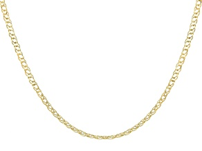 10k Yellow Gold Marquise Necklace 18 Inches