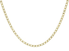 10k Yellow Gold Marquise Necklace 24 Inches
