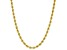 10k Yellow Gold Rope Necklace 16 Inches