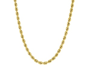 10k Yellow Gold Rope Necklace 24 Inches