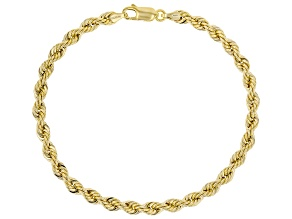 10k Yellow Gold Rope Bracelet