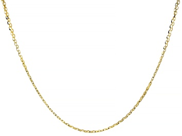 Picture of 10K Yellow Gold 2.10MM Diamond-Cut Bismark Necklace 20 Inches