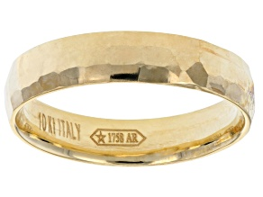 10k Yellow Gold Facets Reflection Ring