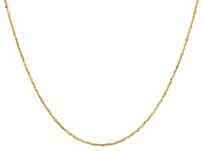 10KT Yellow Gold 10.25MM Criss Cross Chain Necklace 20