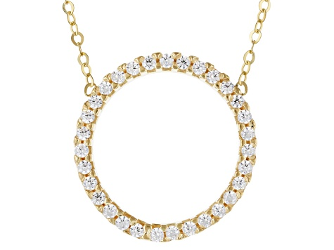 10k Yellow Gold Cubic Zirconia Circle 18