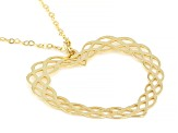 10KT Yellow Gold Tessuti Heart Pendant Necklace