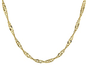 "10K Yellow Gold 2.8MM Singapore Chain 20"" Necklace"