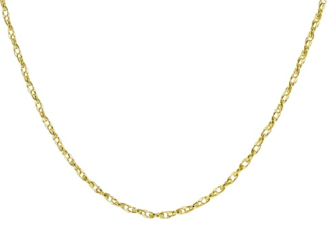 10K Yellow Gold Rope Chain Necklace 20""