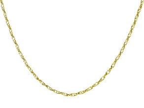 10K Yellow Gold Rope Chain Necklace 20