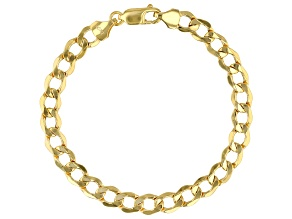 10K Yellow Gold 6.8MM Curb Bracelet