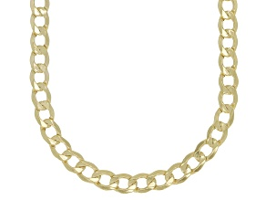 10K Yellow Gold 3.25MM Curb Chain Necklace 18 Inches