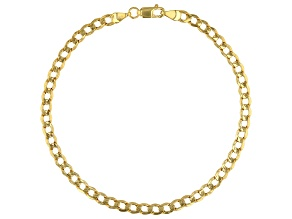 10K Yellow Gold 3.5MM Curb Chain Bracelet