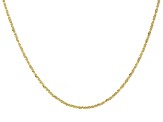 10K Yellow Gold Criss-Cross Chain Necklace 20
