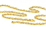 10K Yellow Gold 3MM Singapore Chain 20 Inch Necklace