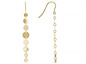 10K Yellow Gold Descending Circle Earrings