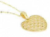 10K Yellow Gold Laser Cut Heart Pendant with 18 Inch Cable Chain