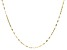 10K Yellow Gold Lucciola Link 1.6mm Chain Necklace 16 Inches