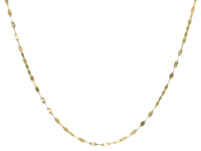 10K Yellow Gold Lucciola Link 1.6mm Chain Necklace 24 Inches