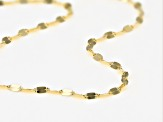 10K Yellow Gold Lucciola Link 1.6mm Chain Necklace 30 Inches