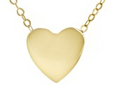 10k Yellow Gold Heart Necklace 18 inch