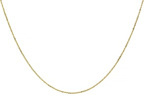 10k Yellow Gold Criss Cross Chain Adjustable Necklace 24 inch