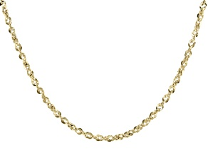 10K Yellow Gold 2.55MM Rope Chain 20