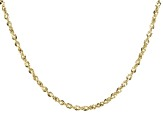 "10K Yellow Gold 2.55MM Rope Chain 20"" Necklace"
