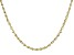 10k Yellow Gold Rope Chain Necklace 24 inch