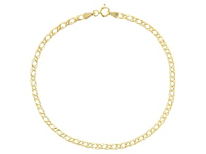10K Yellow Gold 2.92MM Marquise Chain Bracelet