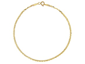 10k Yellow Gold 1.60MM Bismark Chain Bracelet