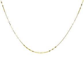10k Yellow Gold Designer 1.60MM Chain Necklace 32 Inch