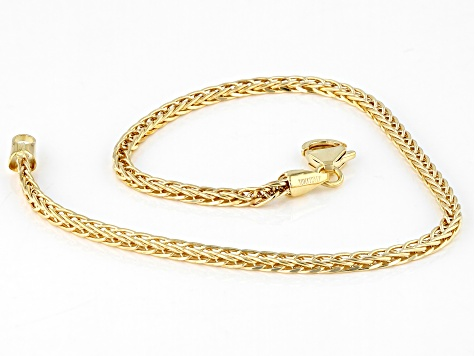 10K Yellow Gold 2.30MM Wheat Chain Bracelet